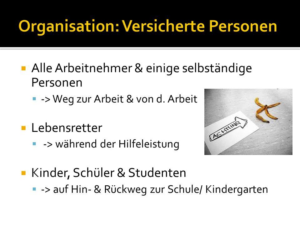 Organisation: Versicherte Personen
