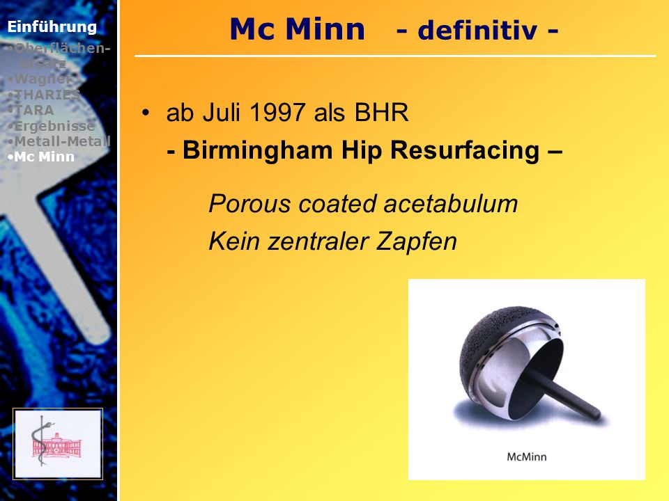 Mc Minn - definitiv - ab Juli 1997 als BHR