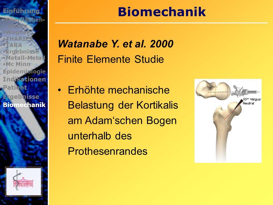 Biomechanik Watanabe Y. et al. 2000 Finite Elemente Studie
