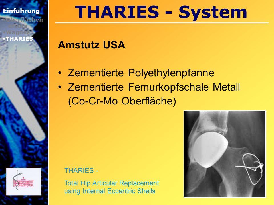 THARIES - System Amstutz USA Zementierte Polyethylenpfanne