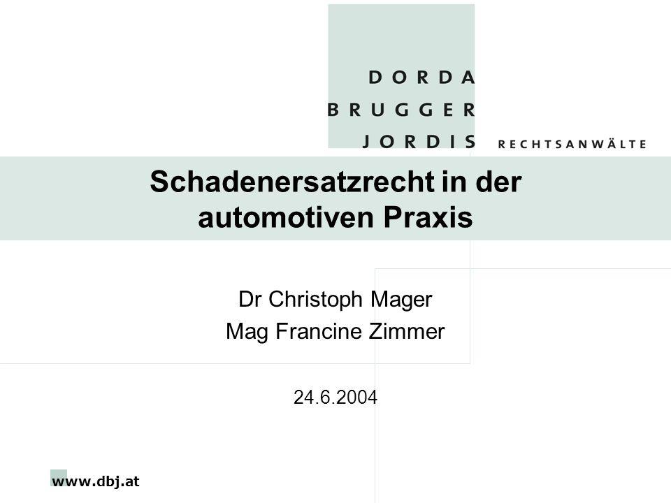 Schadenersatzrecht in der automotiven Praxis