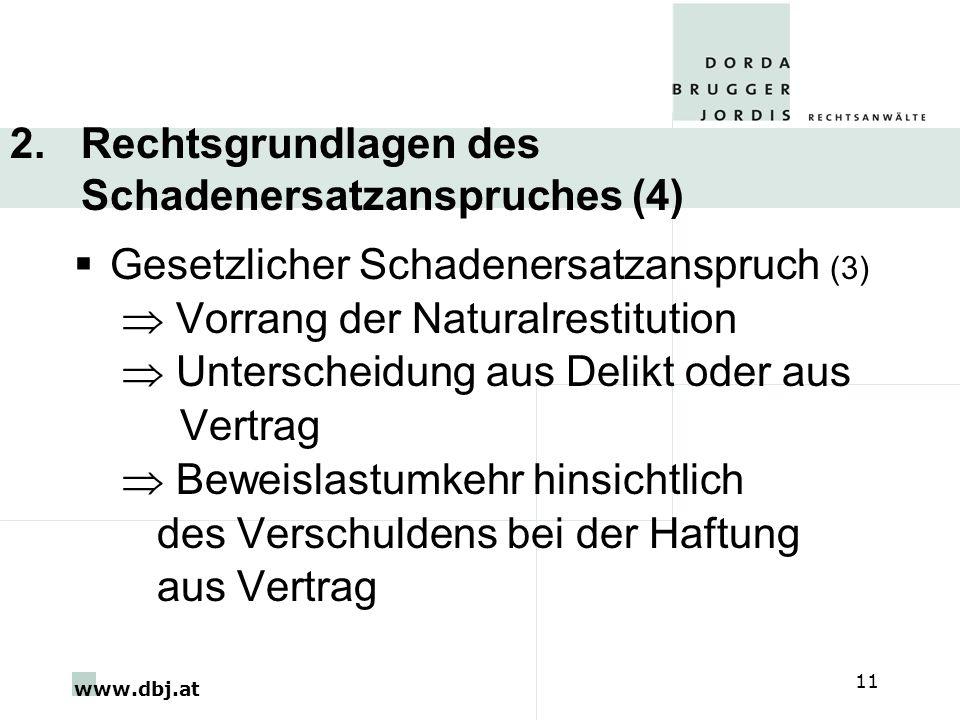 2. Rechtsgrundlagen des Schadenersatzanspruches (4)