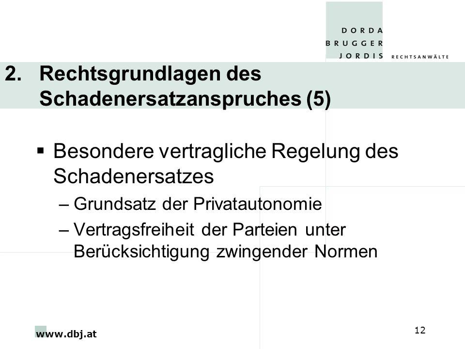 2. Rechtsgrundlagen des Schadenersatzanspruches (5)