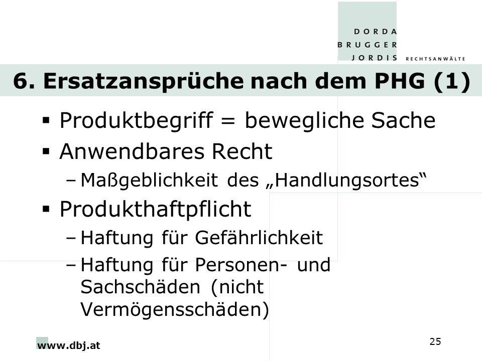 6. Ersatzansprüche nach dem PHG (1)