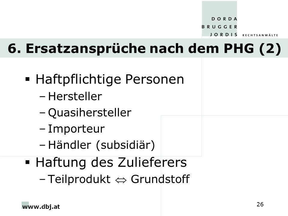 6. Ersatzansprüche nach dem PHG (2)