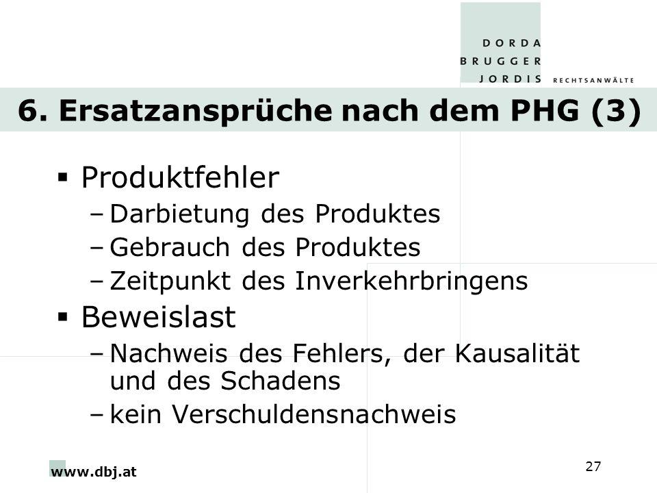 6. Ersatzansprüche nach dem PHG (3)