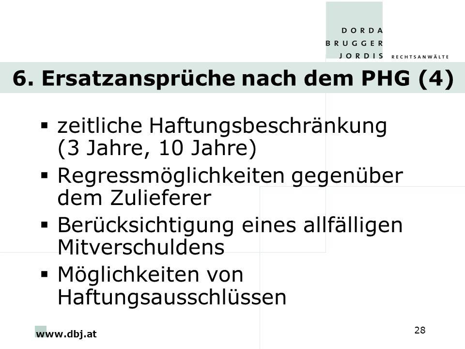 6. Ersatzansprüche nach dem PHG (4)