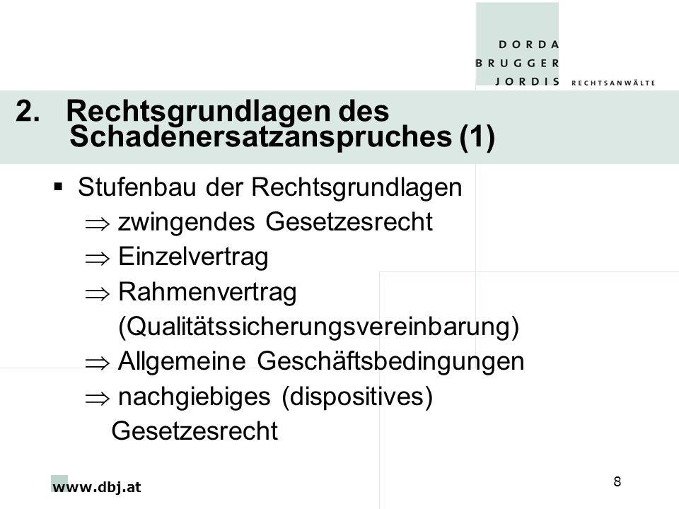 2. Rechtsgrundlagen des Schadenersatzanspruches (1)