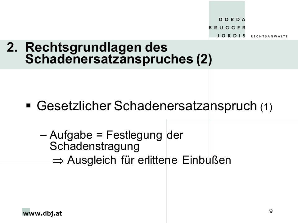 2. Rechtsgrundlagen des Schadenersatzanspruches (2)