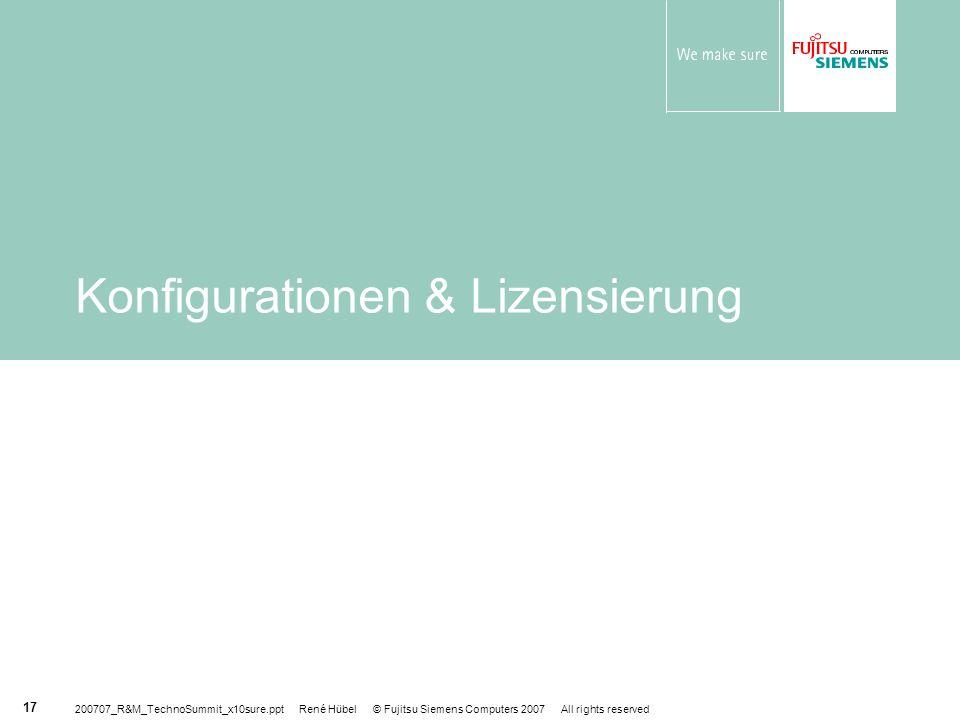 Konfigurationen & Lizensierung