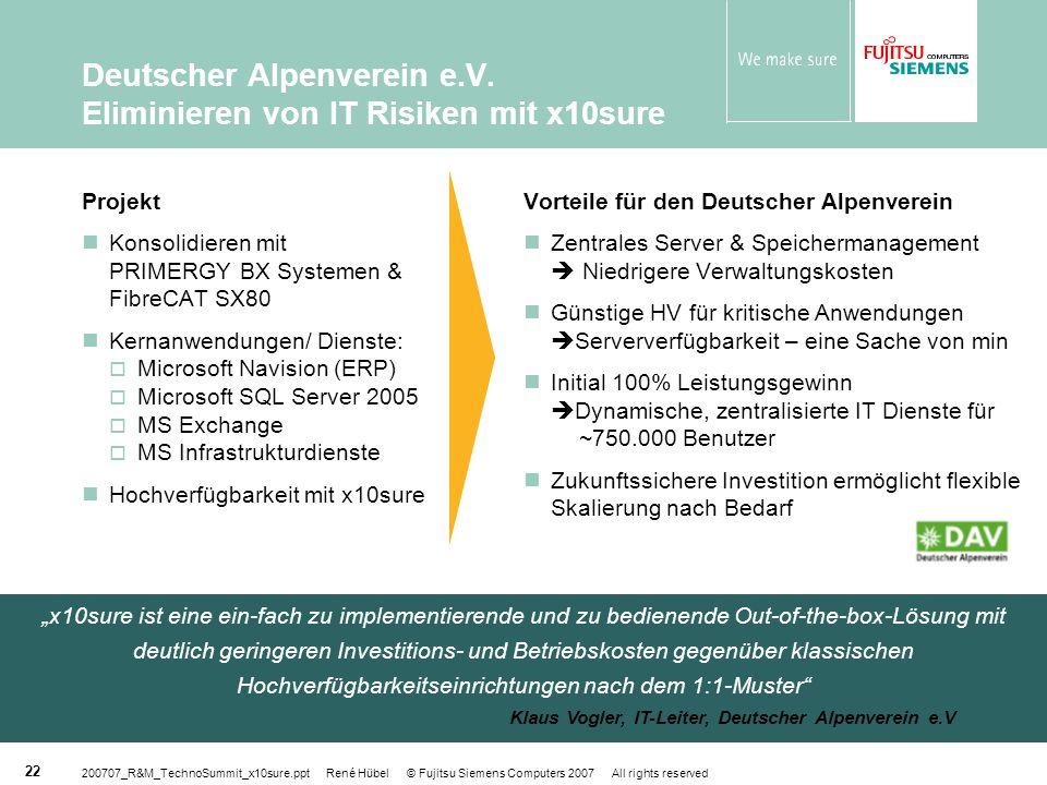 Deutscher Alpenverein e.V. Eliminieren von IT Risiken mit x10sure