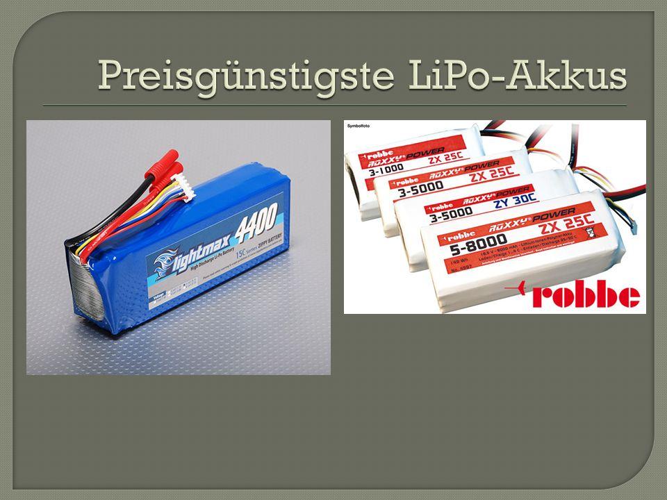 Preisgünstigste LiPo-Akkus