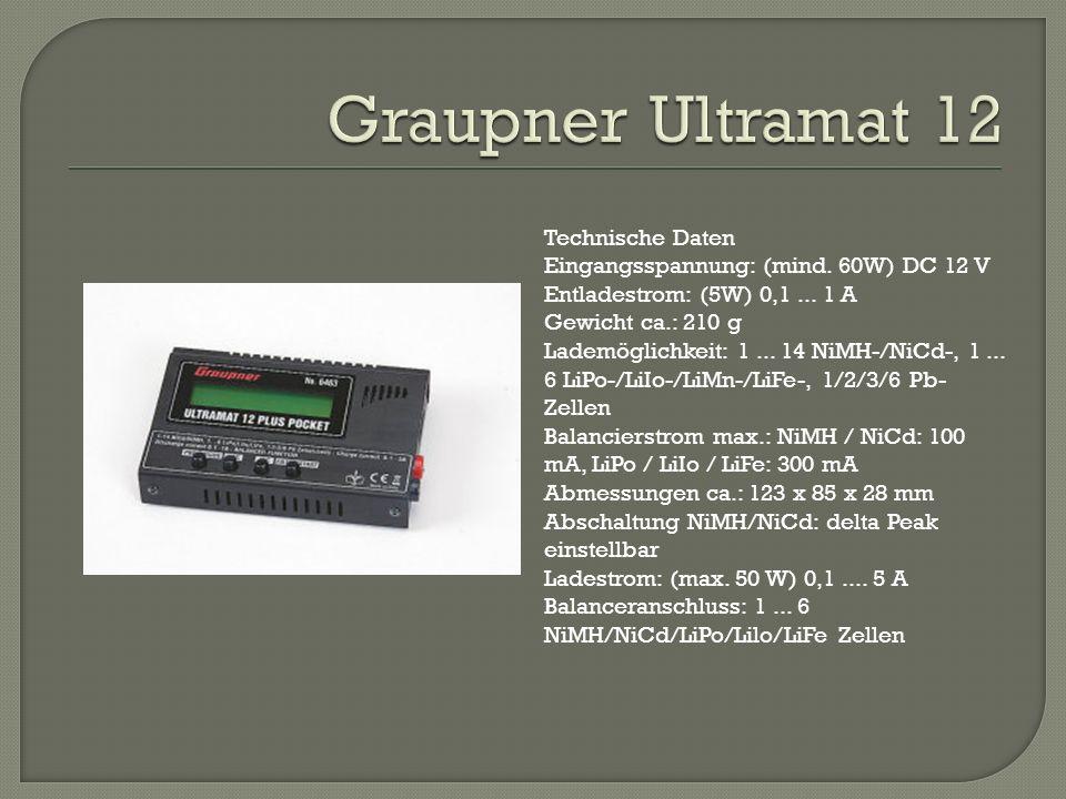 Graupner Ultramat 12 Technische Daten