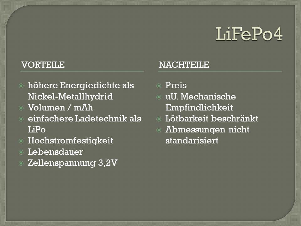 LiFePo4 Vorteile Nachteile