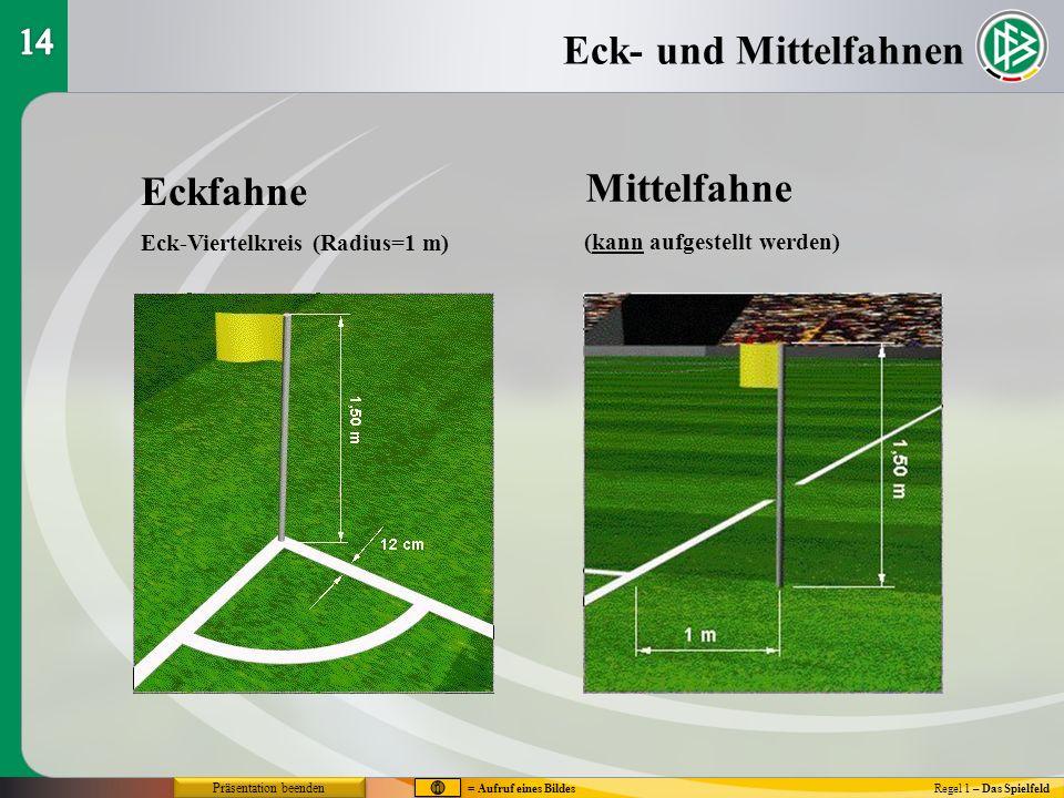 Eck- und Mittelfahnen Mittelfahne Eckfahne 14