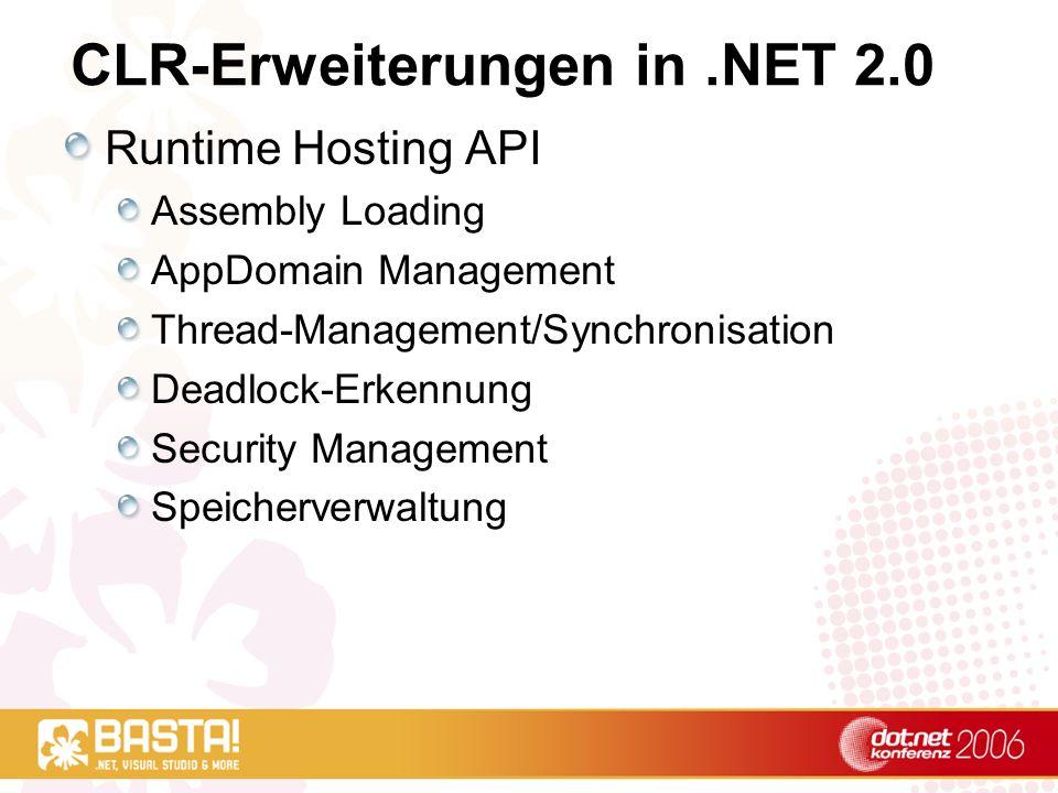 CLR-Erweiterungen in .NET 2.0