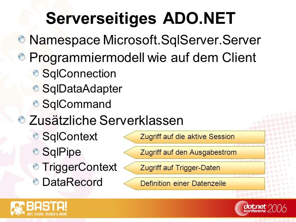 Serverseitiges ADO.NET