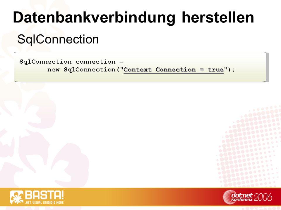 Datenbankverbindung herstellen
