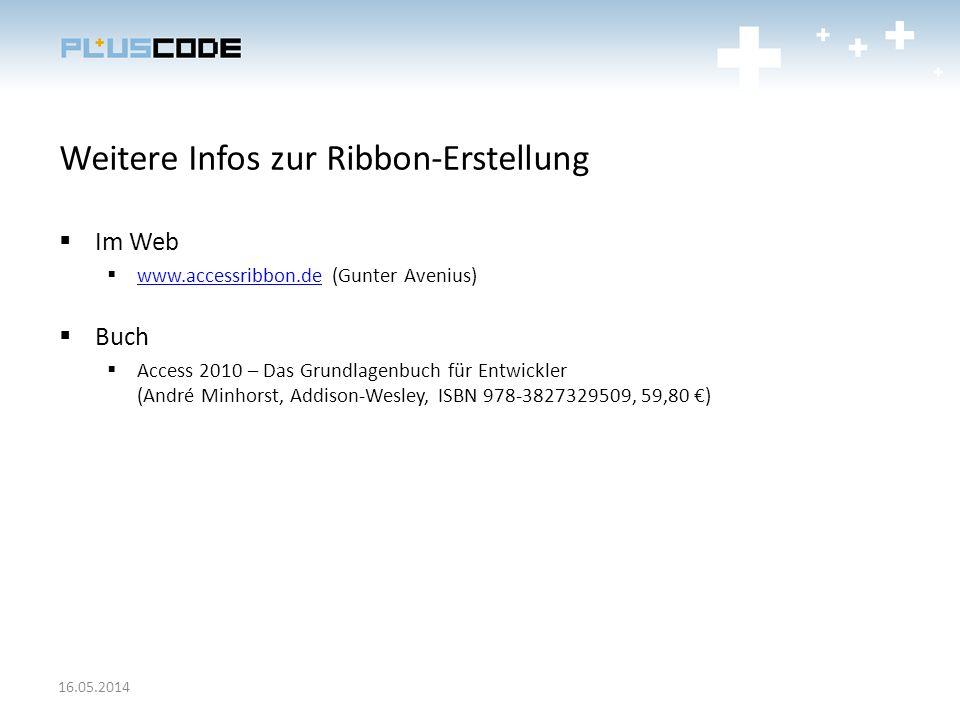 Weitere Infos zur Ribbon-Erstellung