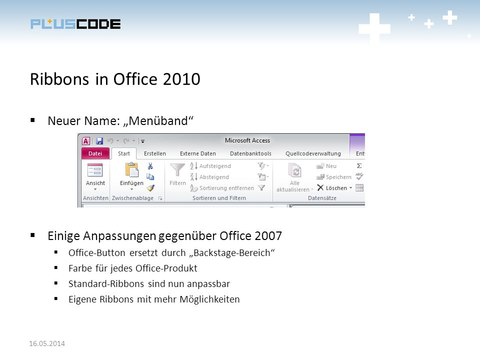 "Ribbons in Office 2010 Neuer Name: ""Menüband"