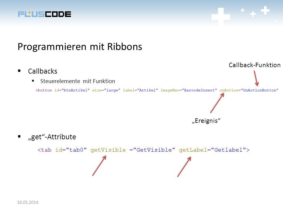 Programmieren mit Ribbons