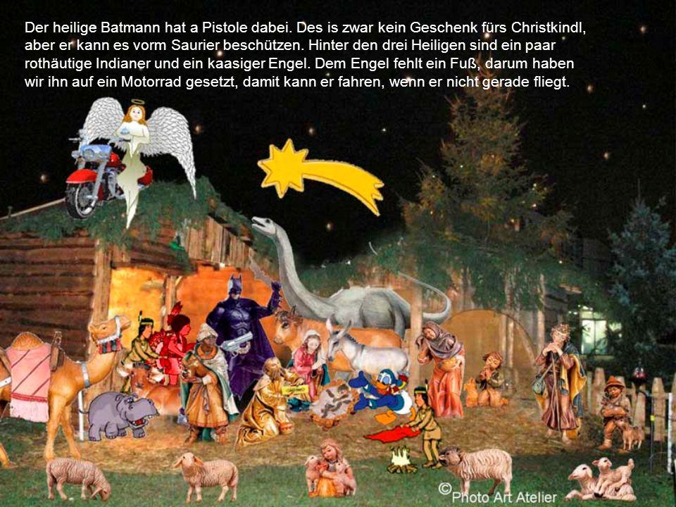 Der heilige Batmann hat a Pistole dabei