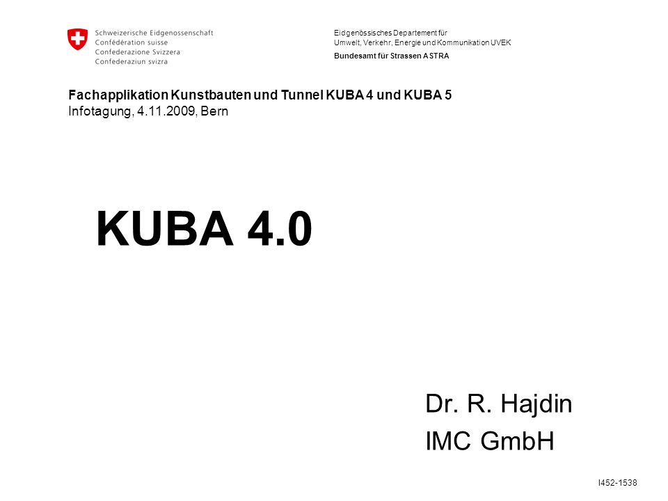KUBA 4.0 Dr. R. Hajdin IMC GmbH