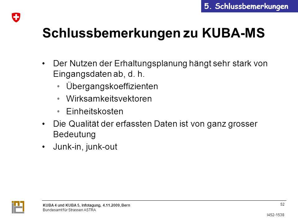 Schlussbemerkungen zu KUBA-MS
