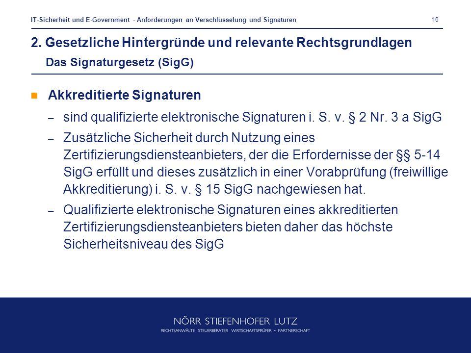 Akkreditierte Signaturen