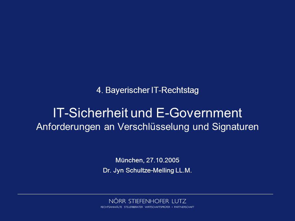 München, 27.10.2005 Dr. Jyn Schultze-Melling LL.M.