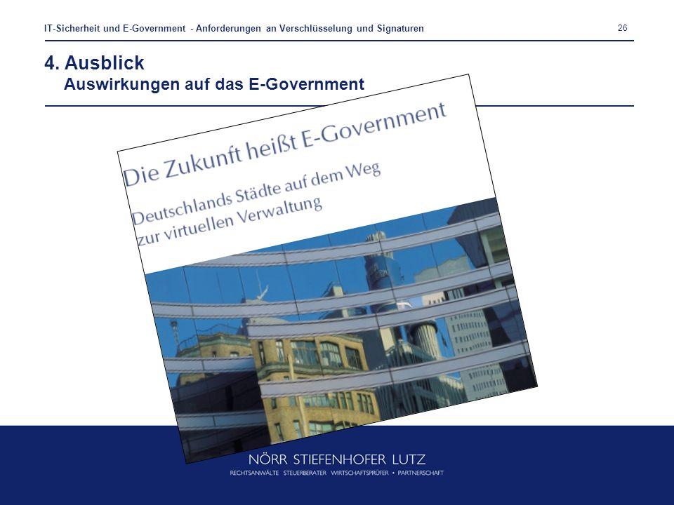 4. Ausblick Auswirkungen auf das E-Government
