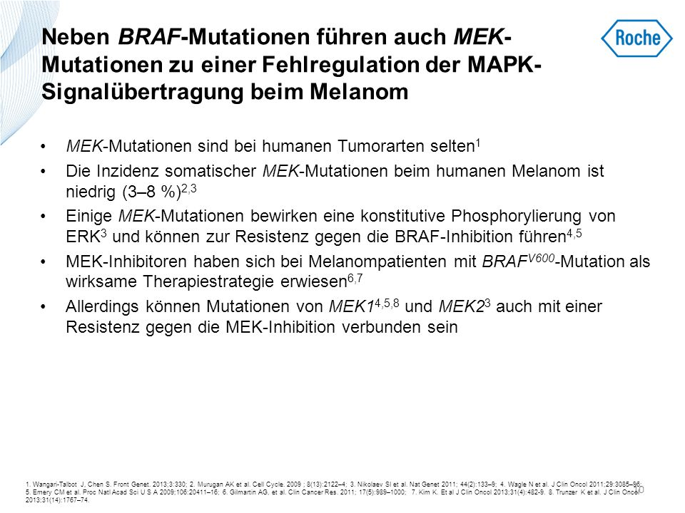 Neben BRAF-Mutationen führen auch MEK-Mutationen zu einer Fehlregulation der MAPK-Signalübertragung beim Melanom