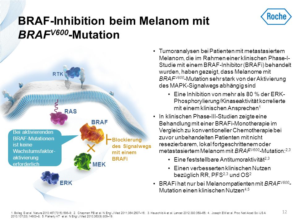 BRAF-Inhibition beim Melanom mit BRAFV600-Mutation