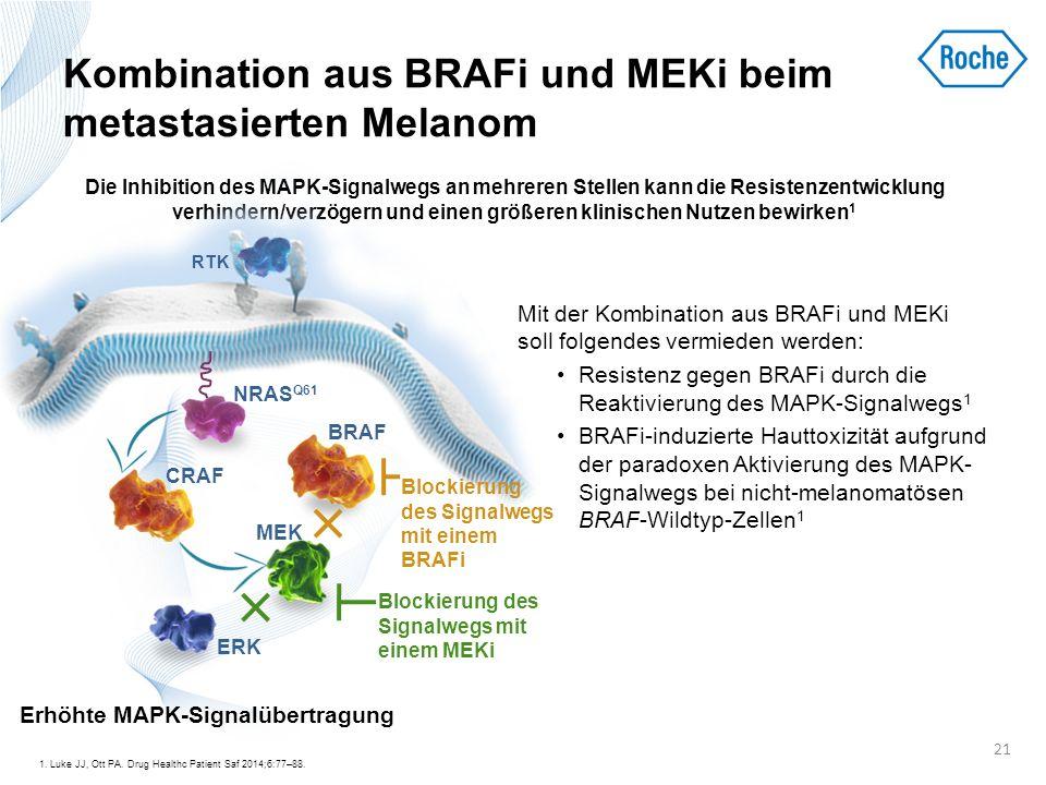 Kombination aus BRAFi und MEKi beim metastasierten Melanom