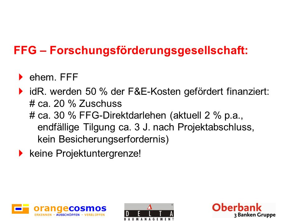 FFG – Forschungsförderungsgesellschaft: