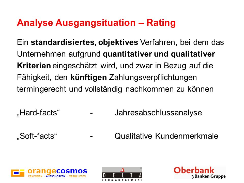 Analyse Ausgangsituation – Rating