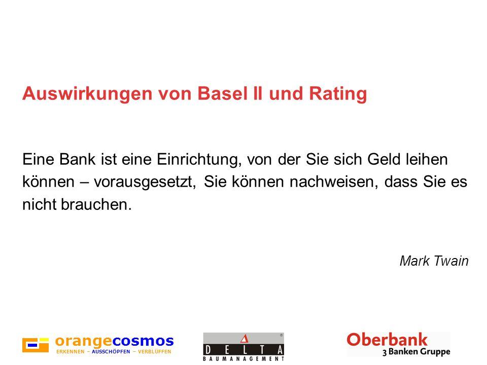 Auswirkungen von Basel II und Rating