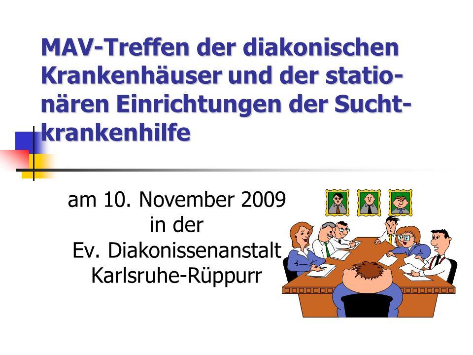 am 10. November 2009 in der Ev. Diakonissenanstalt Karlsruhe-Rüppurr