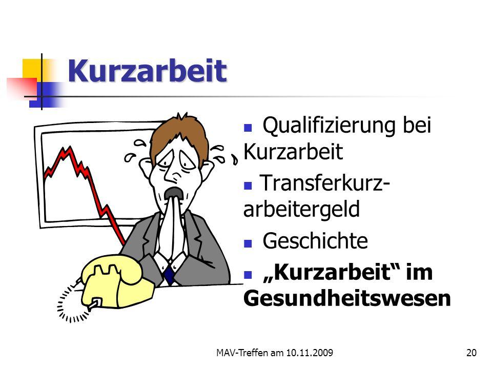 Kurzarbeit Qualifizierung bei Kurzarbeit Transferkurz- arbeitergeld