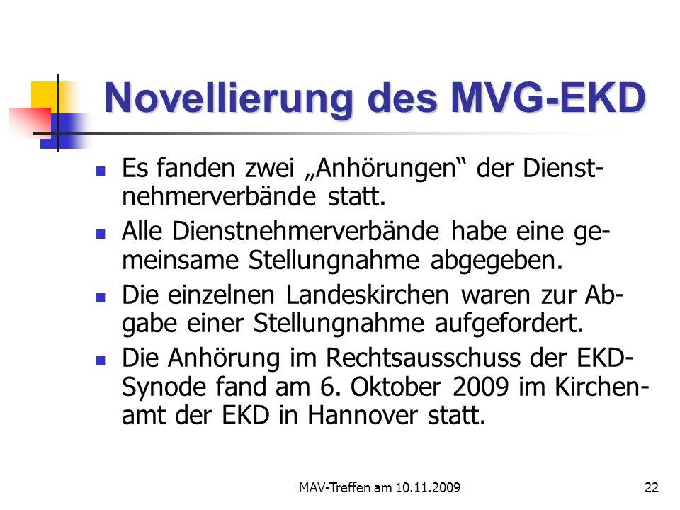 Novellierung des MVG-EKD