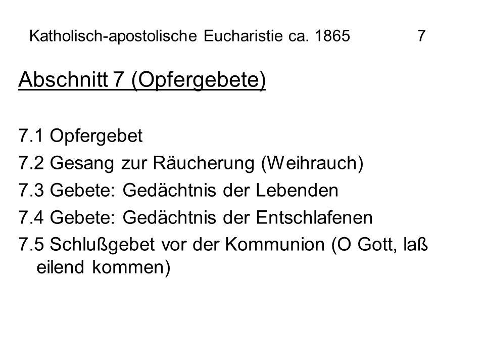Katholisch-apostolische Eucharistie ca. 1865 7
