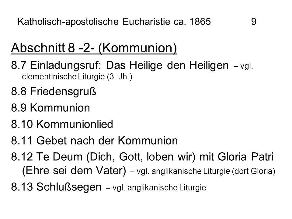 Katholisch-apostolische Eucharistie ca. 1865 9