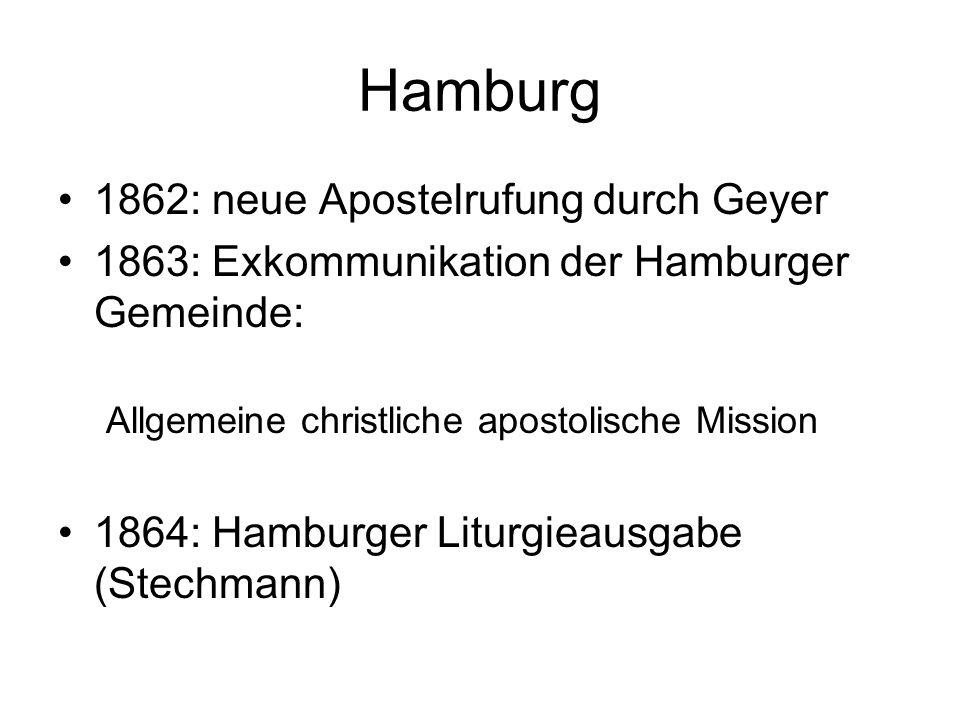 Hamburg 1862: neue Apostelrufung durch Geyer