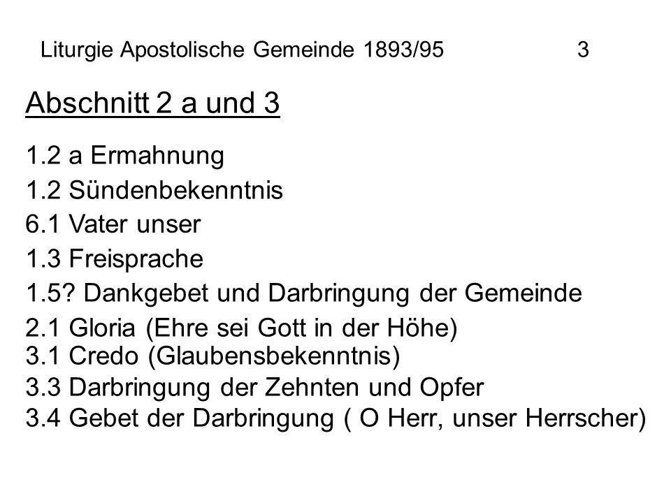 Liturgie Apostolische Gemeinde 1893/95 3