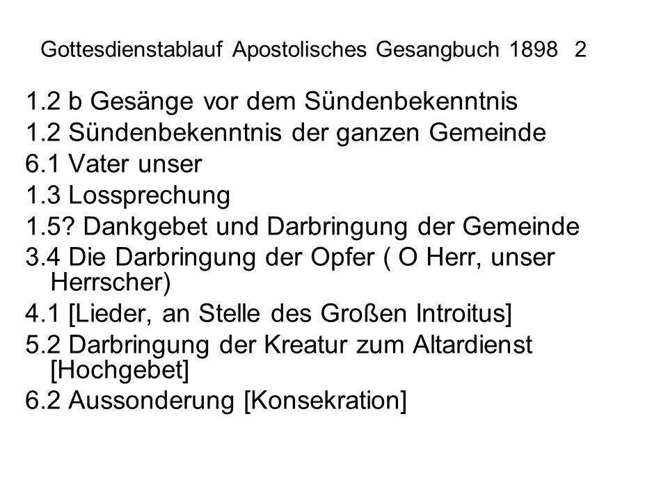 Gottesdienstablauf Apostolisches Gesangbuch 1898 2