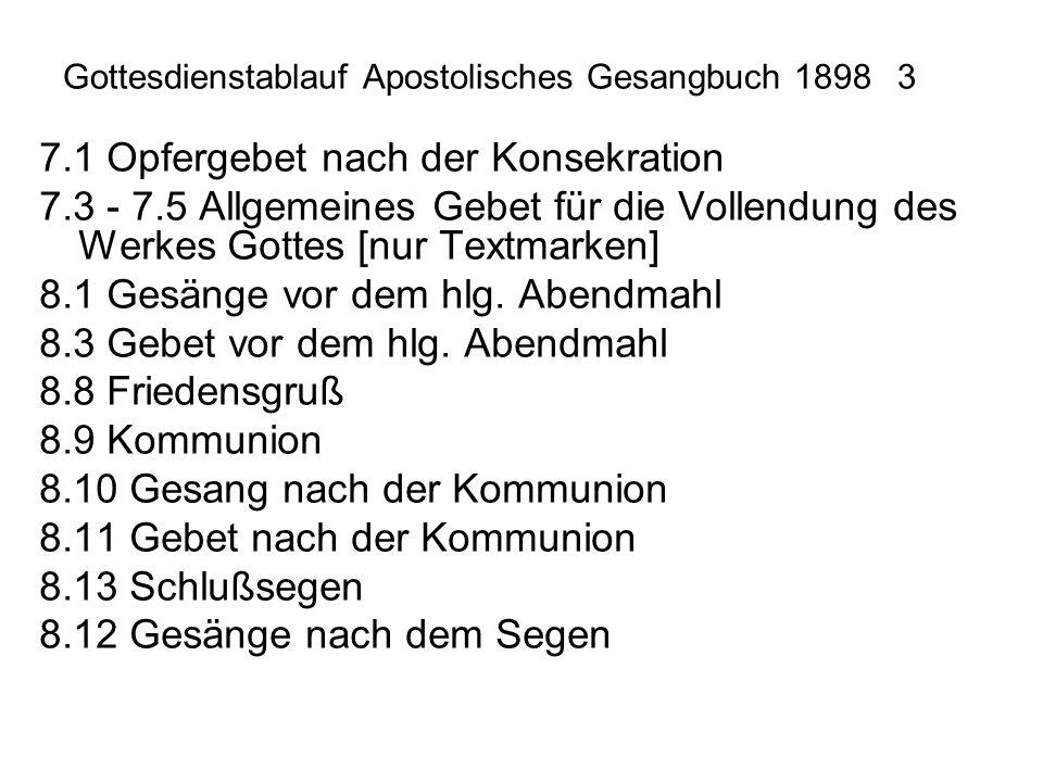Gottesdienstablauf Apostolisches Gesangbuch 1898 3