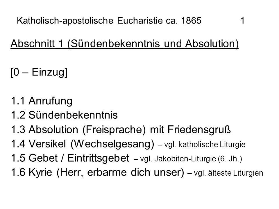 Katholisch-apostolische Eucharistie ca. 1865 1
