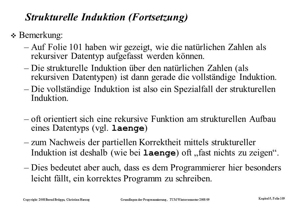 Strukturelle Induktion (Fortsetzung)