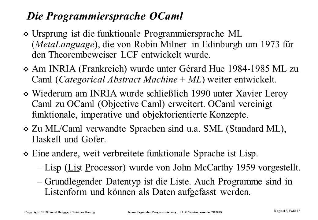 Die Programmiersprache OCaml