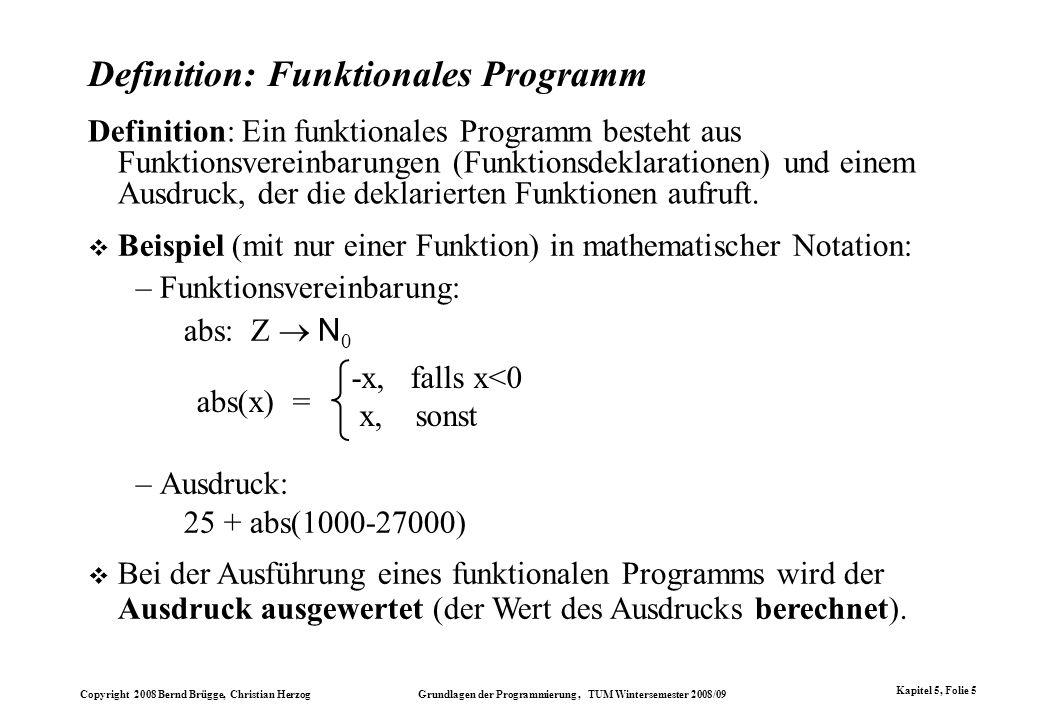 Definition: Funktionales Programm